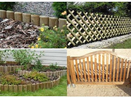Legno vivere - Palizzate in legno per giardino ...